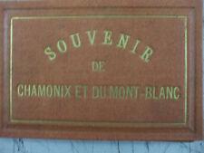 rare album photo dépliant cdv charnaux chamonix et le mont blanc charnaux geneve