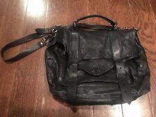 Proenza Schouler PS1 Large Black Lambskin Satchel Black Hardware