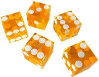 Stick of 5 NEW Green Casino Precision Craps Cellulose Acetate Dice