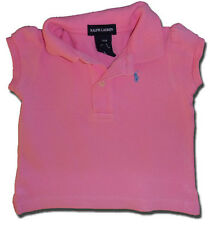 RALPH LAUREN Size 24m (1-2) Candy Pink Classic POLO SHIRT Top