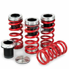 """VW JETTA/GOLF GTI A3 TYP 1H BLACK SCALED COIL OVER RED LOWERING SPRING 1-4""""DROP"""