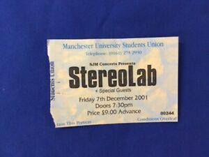 CONCERT TICKET - STEREOLAB 2001               ELP-63