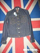New Motorcycle Moto Denim Blue Jeans Cycle Jacket Coat Punk Rocker USA  Top S