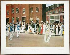 New Orleans  Allan Crite  Parade On Hammond Street  1935 Vintage Original Litho