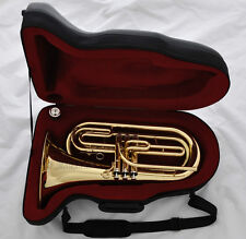 Professional Gold Brass Marching Baritone Tuba Horn New Instrument With Case