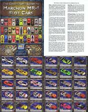 2006 MARCHON MR-1 Slot Car History Guide 12 SIDES NICE!