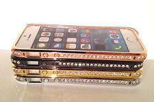 Bling Elegant Crystal Diamond Metal Bumper Case For iPhone 4+ 4s UK SELLER
