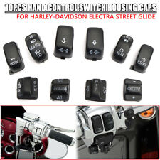 10pcs Hand Control Switch Housing Caps Fit for Harley Touring Electra Glide Dyn