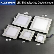 LED Panel Lampen Deckenlampe Einbauleuchte 6W 9W 12W 15W 18W Warmweiß M02