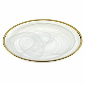 Badash White & Gold Alabaster Plate (D143G(SINGLE))