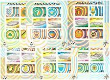 1990 Mondiali Di Calcio Italia 90 6 Foglietti MNH Italia Bf 4-9