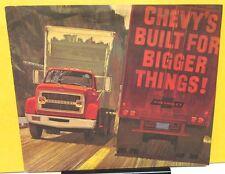 1966 Chevrolet 7000 8000 HD Truck Sales Brochure Gas Diesel Heavyweights