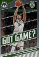 2019-20 Panini Mosaic Got Game? Giannis Antetokounmpo #25 Milwaukee Bucks
