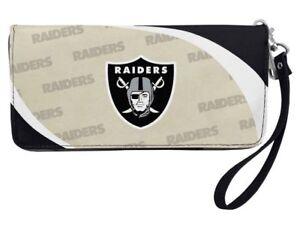Las Vegas Raiders NFL Women's Curve Zip Organizer Wallet / Purse