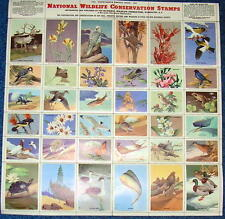 1951 Sheet of 36 National Wildlife Federation. Conservation Stamps