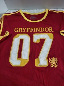 Wizarding World Harry Potter Gryffindor Quidditch Jersey Shirt Men L Free ship