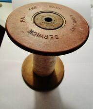 BAER SILK MILL, Baer Co, BERWICK, PA - Antique Wood Textile Thread Spool 1903-14