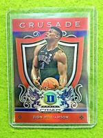 ZION WILLIAMSON RED PRIZM ROOKIE CARD JERSEY #1 DUKE RC PELICANS 2019 CRUSADE SP