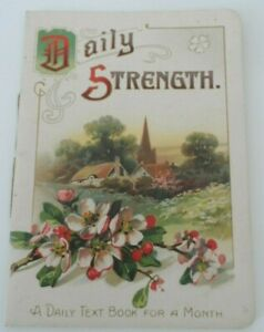 Charming early 1900s Illustrated Daily Strength Card Booklet Walter G Wheeler