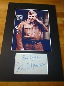 John Le Mesurier Dads Army Genuine Signed Authentic  Autograph - UACC / AFTAL.