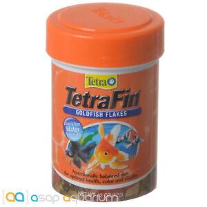 Tetra TetraFin Goldfish Flakes 0.42oz (12g) Fish Food Clean Clear Water Formula