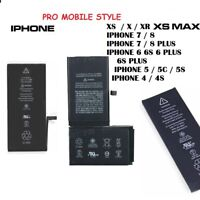 BATTERIE iphone XR X XS XS max 4 4S 5 5S IPHONE 8 6 plus 6S plus 7 7 PLUS