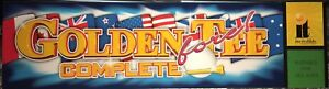 """Golden Tee Fore! Complete Arcade Marquee 26""""x6.9"""""""