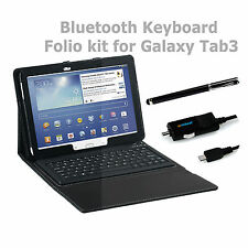 mbeat Samsung Galaxy Tab3 10.1 Wireless Bluetooth Keyboard Case Folio kit