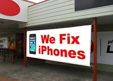 We Fix iPhones Cell Phones Repair Retail Store Business Advertising Banner Signs