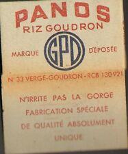 PANOS VERGE GOUDRON GPD PAPIER A CIGARETTES PAPER