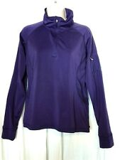 Champion Double Dry Size L Purple 1/4 Zip Long Sleeve Athletic Fitness Jacket