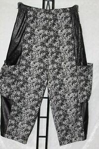 NEU! Lagenlook Ballonhose extra weit Schlupfhose Muster schwarz/grau 48 50 52 54
