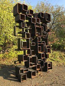 HUGE Original Abstract Expressionist Sculpture Detroit artist HUDA All Steel