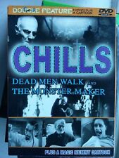 DOUBLE FEATURE CHILLS DEAD MEN WALK AND THE MONSTER MAKER MAGIC MUMMY TOON DVD