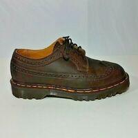 Dr. Martens Brogue Brown Wingtip Oxfords Shoes Men Size 6