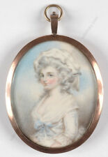 "Richard Cosway manner ""Portrait of a lady"", miniature, 1780s"