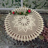 23'' Round Hand Crochet Lace Doily Placemat Doilies Tablecloth Cotton 2 Color ❤