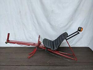 "1980s Handmade 27""x 1 3/8 Rear Wheel 16x1 3/8 Front Wheel Recumbent Bike Red"