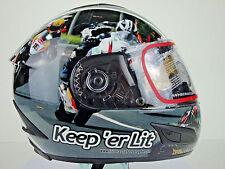 Isle of Man TT Helmet Keep 'er Lit Limited Edition Irish Race Photography UGP