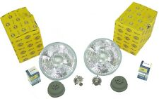 "H4 Headlight Conversion 7"" Hella Set Fits VW Bug Bus Ghia Thing Porsche H4 KIT"