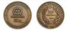 Turkey 2020 BRONZE Anadolu Agency UNC 100 Years Commemorative Coin