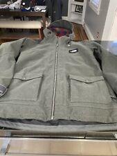 MENS The North Face Hyvent Winter Jacket Medium Gray TNF Hooded NEW