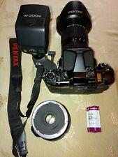 Pentax 67ii Medium-Format Film Camera Setup w/ Handle, Zoom and Fisheye Lenses
