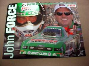 NHRA John Force Castrol GTX High Mileage Ford Mustang Fan Hero Funny Car Photo