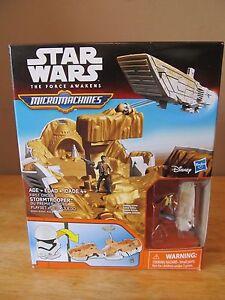 Star Wars: The Force Awakens Micro Machines Stormtrooper Playset~Brand New!!