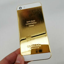 24K Gold Plated Limited Edition Back Housing Frame Cover For iPhone SE 5S New