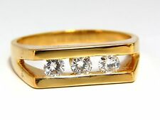 .75ct Mens Diamond Ring 14kt Channel +