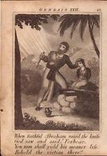 1831 Gravure. Ecriture histoire-Quand fidèle Abraham a Soulevé le couteau!