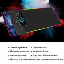 Mauspad USB Mit Qi Charging RGB Beleuchtung LED Mousepad Gaming Gaming Matte