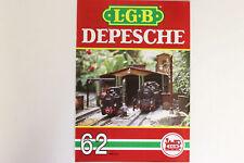 LGB Buch - Prospekt - Katalog LGB DEPESCHE Ausgabe 1989 Heft Nr. 62 Spur G